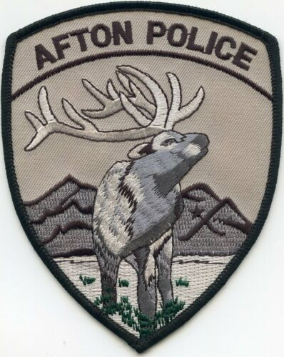 AFTON WYOMING WY subdued POLICE PATCH