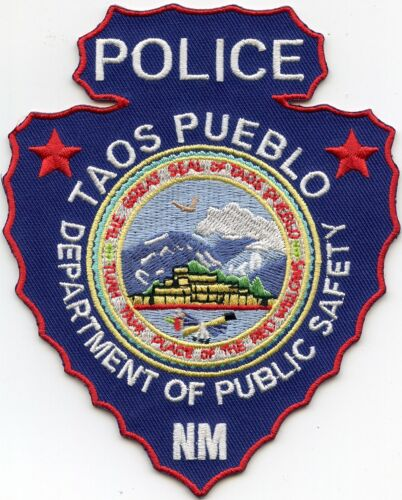 TAOS PUEBLO NEW MEXICO NM Indian Arrowhead Shaped TRIBAL POLICE PATCH