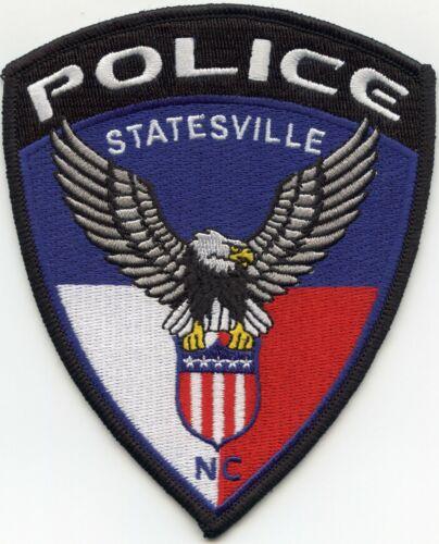 STATESVILLE NORTH CAROLINA NC colorful POLICE PATCH