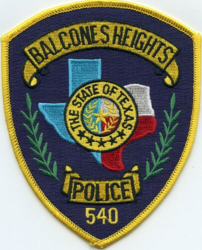 old style BALCONES HEIGHTS TEXAS TX POLICE PATCH