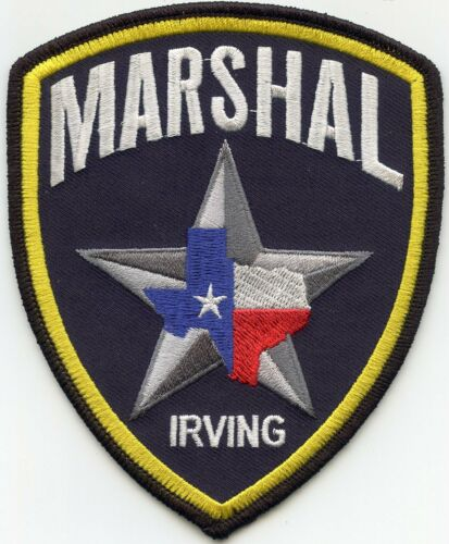 IRVING TEXAS TX MARSHAL police PATCH