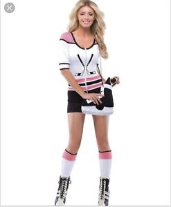 Sexy Cute Women's Hockey Hottie Player Halloween Costume Small