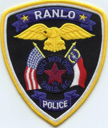 RANLO NORTH CAROLINA NC POLICE PATCH