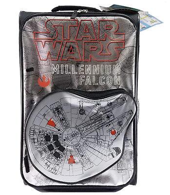 "Disney Star Wars Light Up Millenium Falcon 18"" Kids Suitcase luggage lightweight"