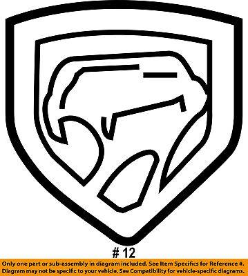 Dodge CHRYSLER OEM 08-10 Viper Hood-Medallion UW3706SAA