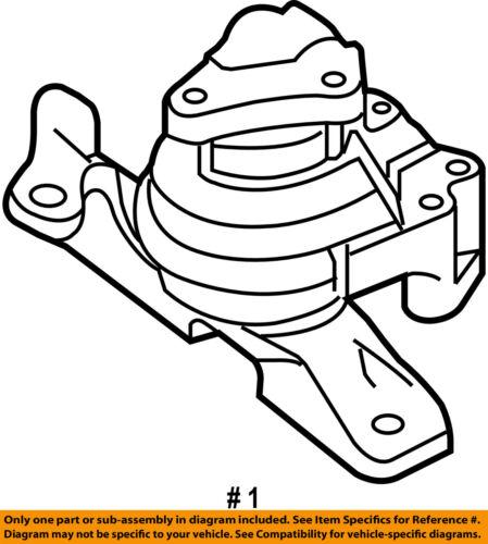 Ford Oem Engine Motor Mounttorque Strut 8g1z6038a