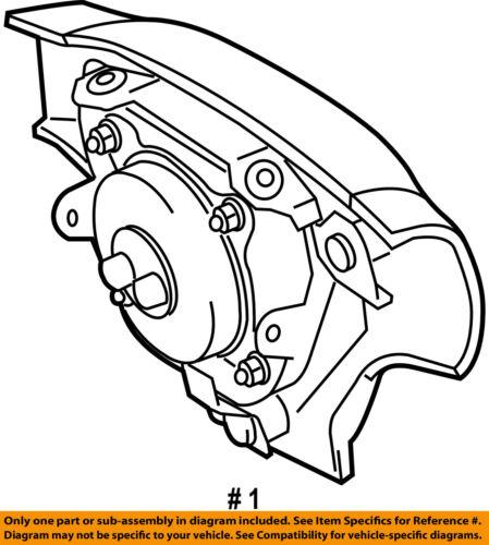 Toyota Oem Corolla Airbag Air Bag Driver Steering Wheel Inflator