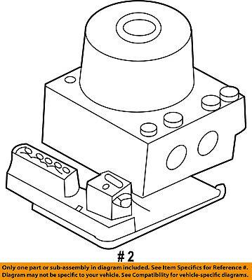 FORD OEM ABS Anti-lock Brakes-Modulator Valve AL8Z2C215A