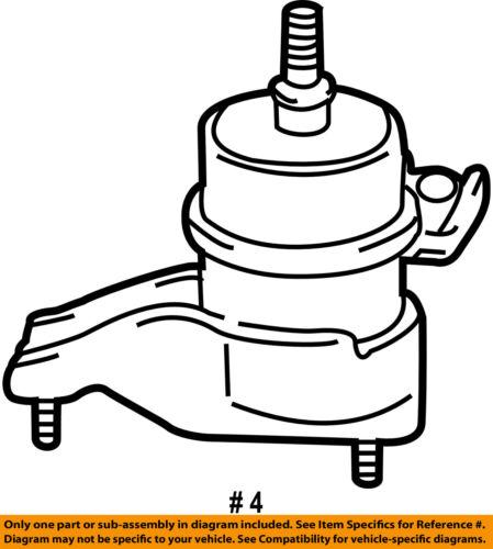 Toyota Oem 12 16 Camry Engine Motor Mount Torque Strut 123720v020