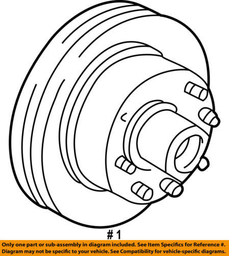 Ford Oem 97 02 E 350 Econoline Club Wagon Front Brake Disc Rotor