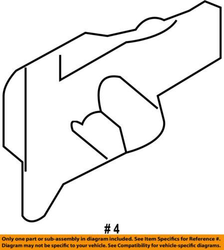 AUDI OEM 07-15 Q7 Front Door-Lower Molding Clip 4L0853909
