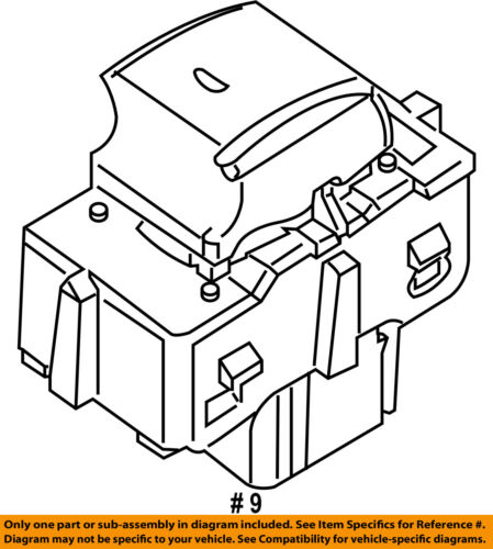 ford oem front door window switch 6l2z14529aaa ebay Ford F-150 Eddie Bauer Edition 9 on diagram only genuine oe factory original item