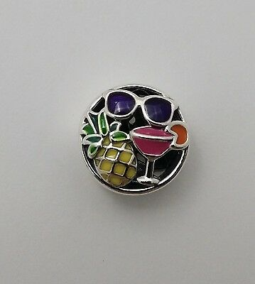 New Authentic Pandora Sterling Silver Charm Summer Fun, Mixed Enamel 792118ENMX