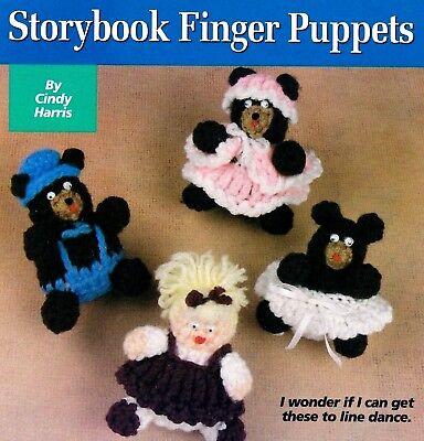 CUTE Storybook Finger Puppets/Crochet Pattern INSTRUCTIONS ONLY - Crochet Finger Puppets