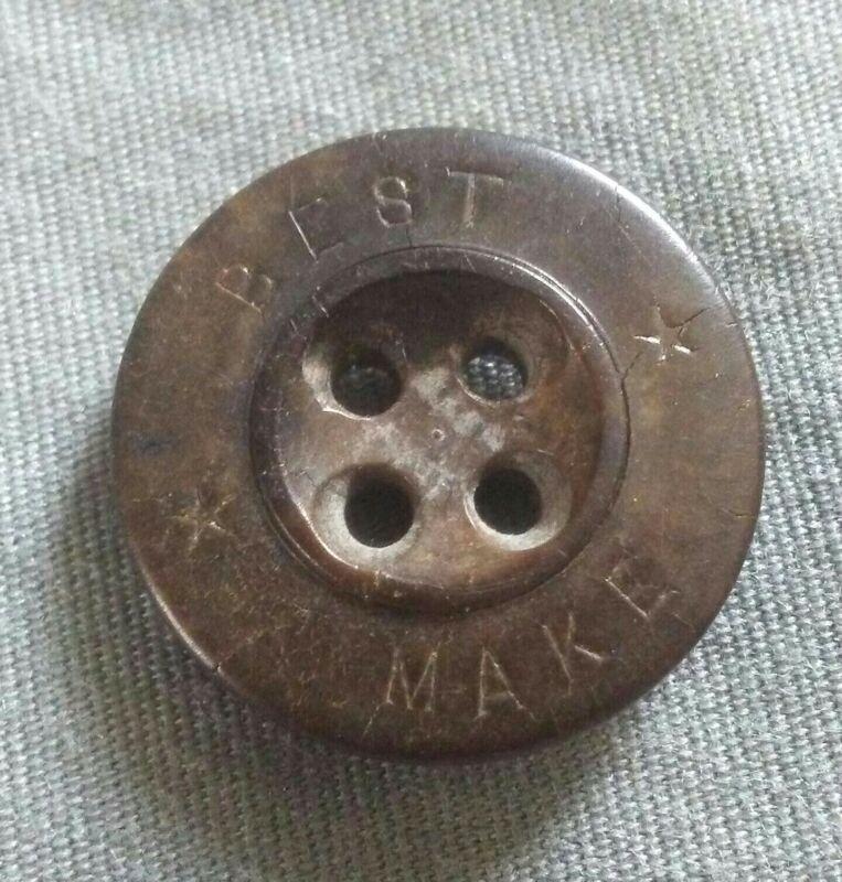 Rare Vintage Best Make Vegetable Ivory Button.