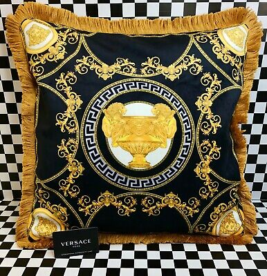 Versace Pillow Case Multi Color Sold Out Limited Edition 20x20 Soft Silk W/Card