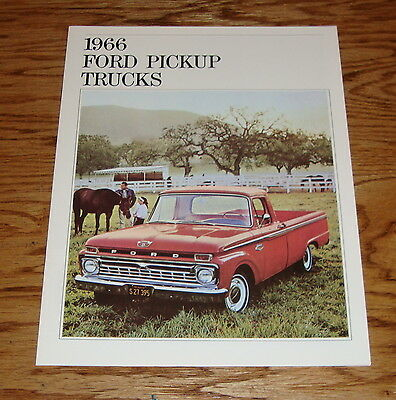 1966 Ford Truck Pickup Sales Brochure 66 F-100 F-250