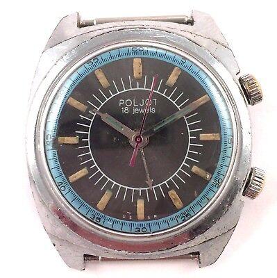 Vintage POLJOT Signal, Manual ALARM wrist watch, USSR *US SELLER* #1206