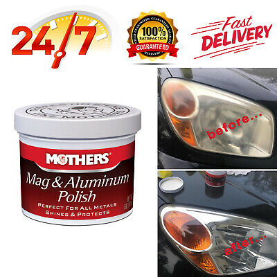 Mothers Mag & Aluminum Polish Metal Cleaner Protects Shines Car Truck, 5oz.