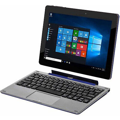 TABLET LAPTOP Computer Convertible 2 in 1 Windows 10 Keyboard PC 32 GB WebCam
