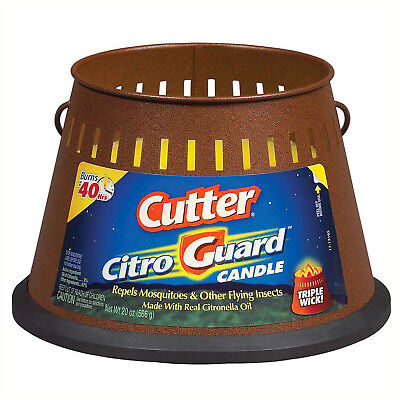 CUTTER CITRONELLA CANDLE 20 Oz Triple Wick Mosquito Repellent Insect Buffer