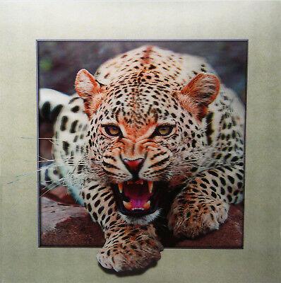 3D Lenticular Poster - Jaguar Attacking -16 x16 Print
