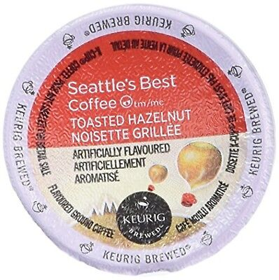 Seattle's Best Coffee Toasted Hazelnut K-cup 16 Packs (Pack of 2) by
