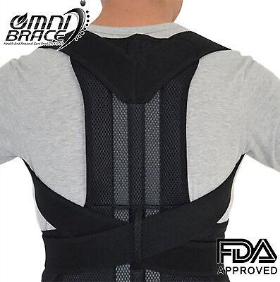 OMNIBRACE-Unisex Neoprene Deluxe Full Back Posture Corrector Brace-Sizes S-XXL