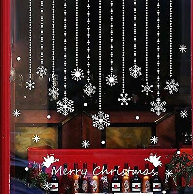 Snowflake Ornament Christmas Window Decal Sticker Decor Cling Wall Decoration