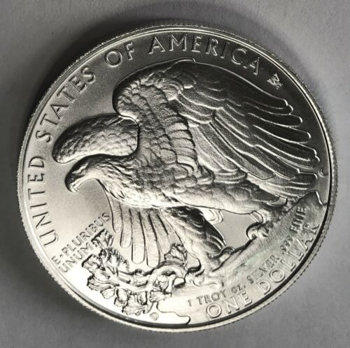 2009-DC Satin American Silver Eagle Weinman Eagle Rev Overstrike Daniel Carr /6