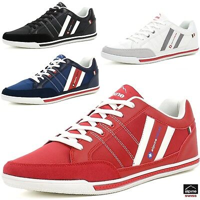 $29.99 - Alpine Swiss Stefan Mens Retro Fashion Sneakers Tennis Shoes Casual Athletic New