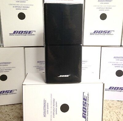 1 Bose MINT Double Cube DoubleShot Speaker Acoustimass Lifestyle Black