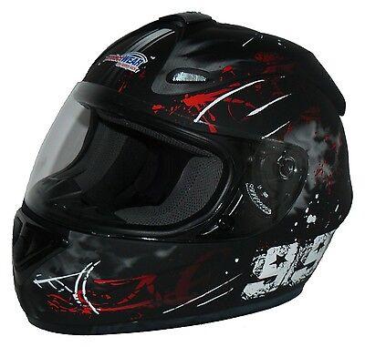 Motorradhelm Integralhelm matt rot schwarz FS-801-99R Größe S, M, L, XL NEU