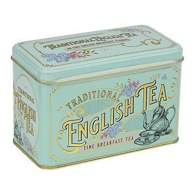 New English Teas Vintage Victorian English Breakfast Tea Tin 40 Teabags