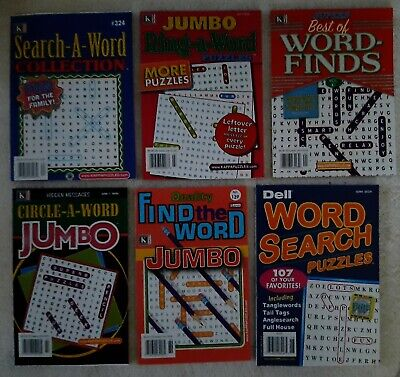 Word Search Seek Puzzle Book Lot Of 6 Books Kappa Dell Search Word Circle Find