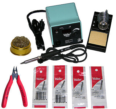 Weller Wesd51 Digital Soldering Station 50 Watt Iron 170m 4 Tips Tip Cleaner