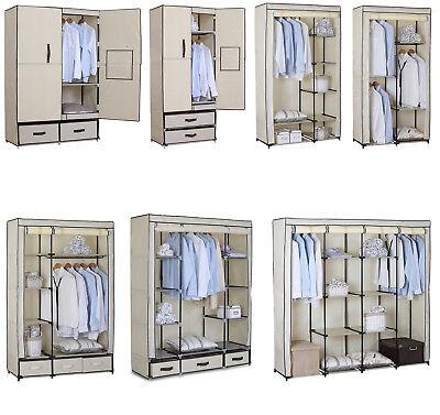 Kleiderschrank Garderobenschrank Campingschrank Faltschrank Stoff Schrank #173-1