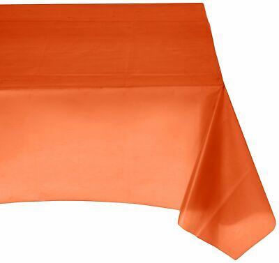 Amscan Orange Peel Rectangular Plastic Table Cover Party Supply, Orange, 54