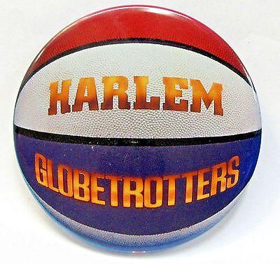 "HARLEM GLOBETROTTERS Basketball large 3.5"" tin litho pinback button"