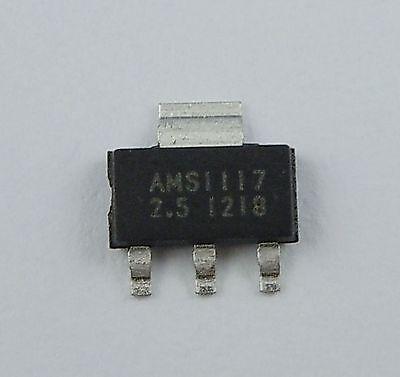 10pcs New Ams1117 2.5v 1a Voltage Regulator Sot-223