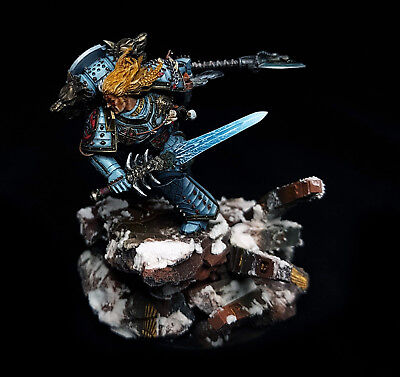 Leman Russ Primarch of Space Wolves Magnetized Base Superbly Painted Warhammer, used for sale  Shipping to United States
