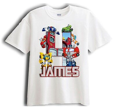 Transformer Rescue Bots Personalized - Birthday T-Shirt Party Favor  - Rescue Bots Birthday