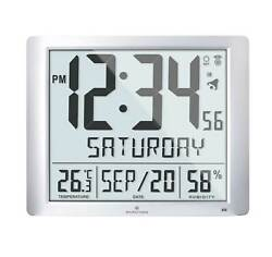 Marathon CL030061FD-GG Graphite Grey Super Jumbo Digital Atomic Wall Clock