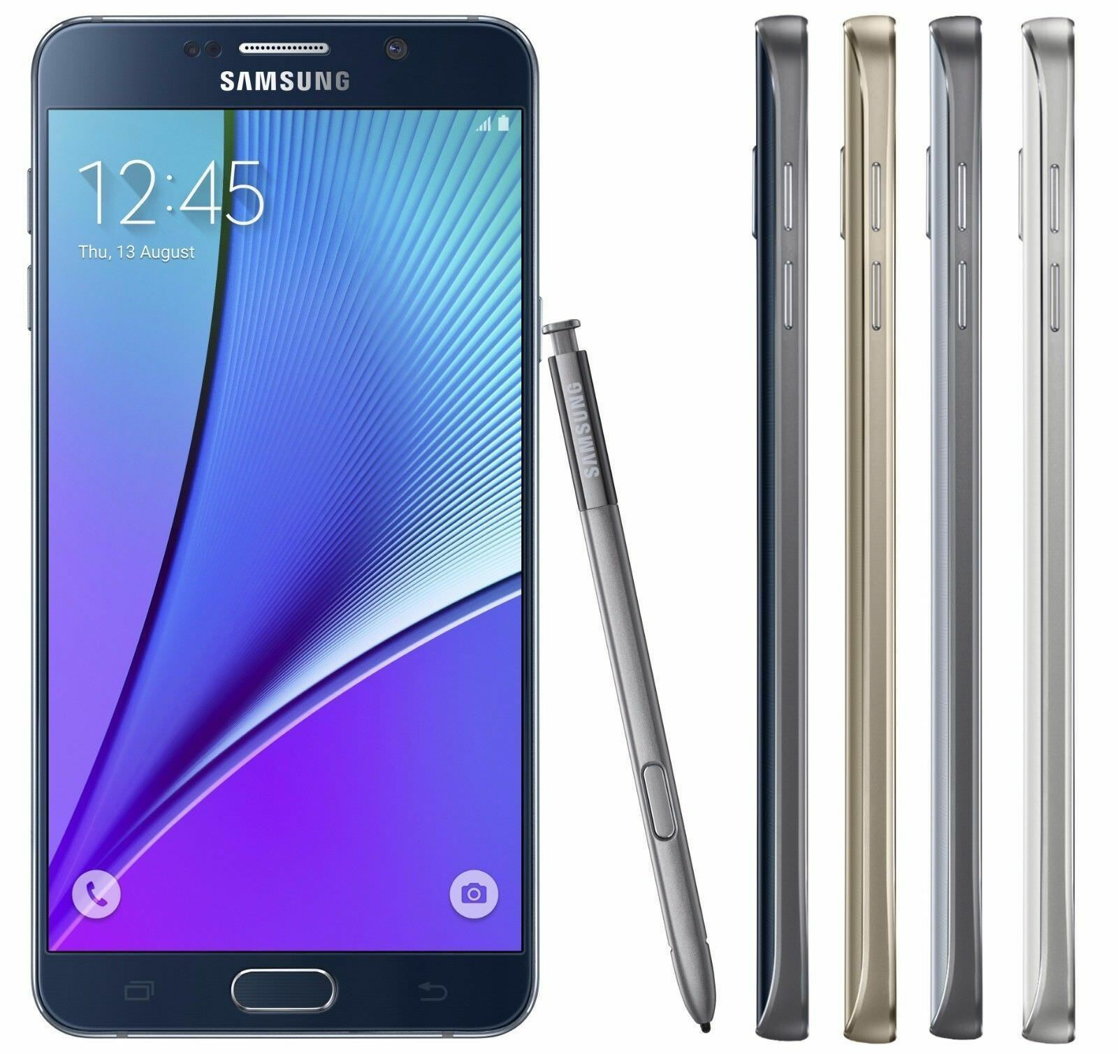 SELLER REFURBISHED SAMSUNG GALAXY NOTE 5 UNLOCKED 32/64GB - (GSM AT&T T-MOBILE H20) 4G SMARTPHONE