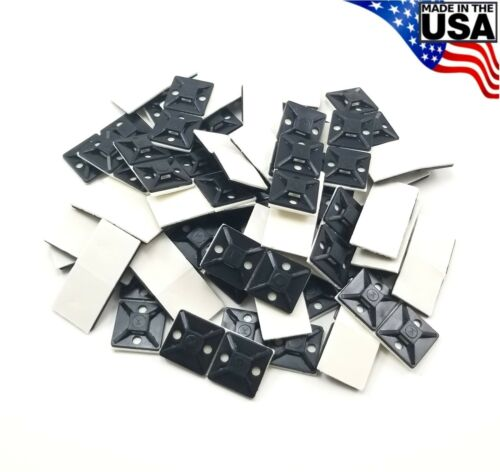 "Zip Cable Tie Adhesive Mounting Base Pad 3/4"" 100pc Made in USA Mount"