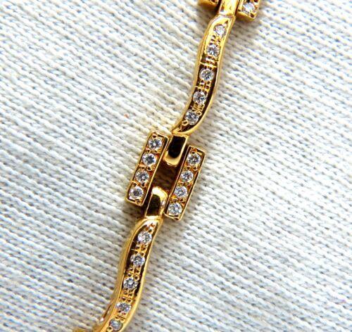 18kt Diamonds Bead Set Vine Bracelet 1.30ct