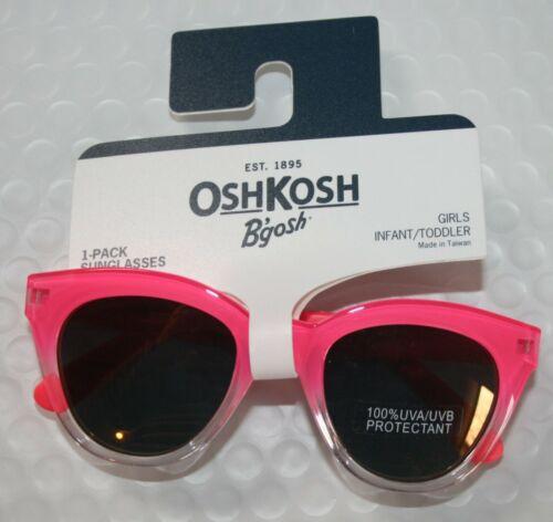 New OshKosh Girls Sunglasses Ombre Pink  1 2 yr 0-24m NWT 100% UVA-UVB