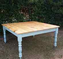 Large 8 seater country farmhouse dining table cottage furniture Griffin Pine Rivers Area Preview