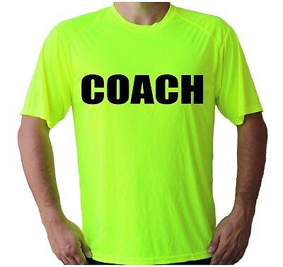 - Soccer Tennis School Coach Team Sport Tee Sleeve UPF 30 T-Shirt UV Protection
