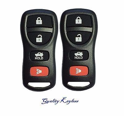 2 New Replacement Keyless Entry Car Remote Key Fob Clicker For Nissan Kbrastu15